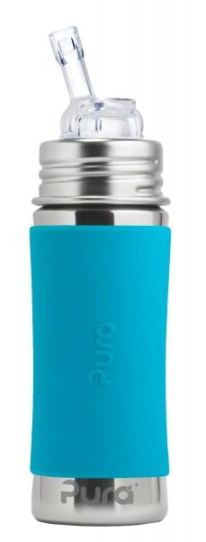 Purakiki Strohhalmflasche | plastikfreie Edelstahltrinkflasche von Pura
