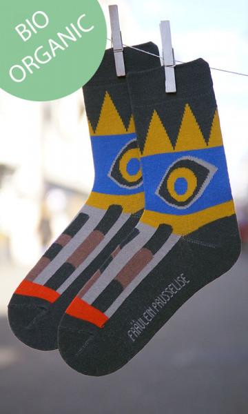 Frl. Prusselise Damen/Herrensocken Inka | Frähliche Socken bei Das bunte Chamäleon in Bamberg und online