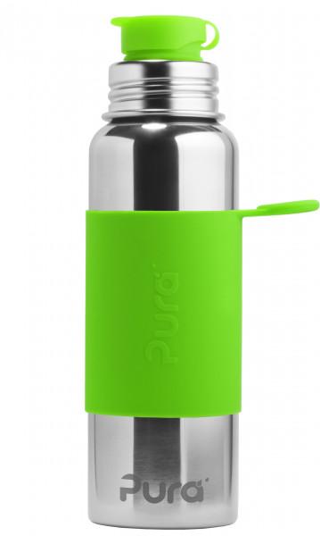 Pura Edelstahlflasche 800 ml. grün | Plastikfreie Edelstahlflaschen von Pura bei Das bunte Chamäleon in Bamberg und online
