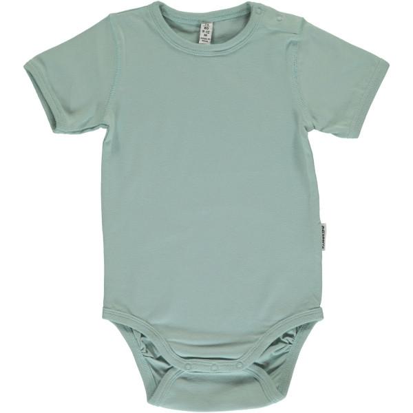 Maxomorra Body kurzarm Pale Blue | Bio-Kinderkleidung von Maxomorra bei Das bunte Chamäleon online kaufen