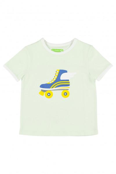 Lily Balou T-Shirt Billie, Rollschuh   Belgische Bio-Kinderbekleidung bei Das bunte Chamäleon in Bamberg und online kaufen