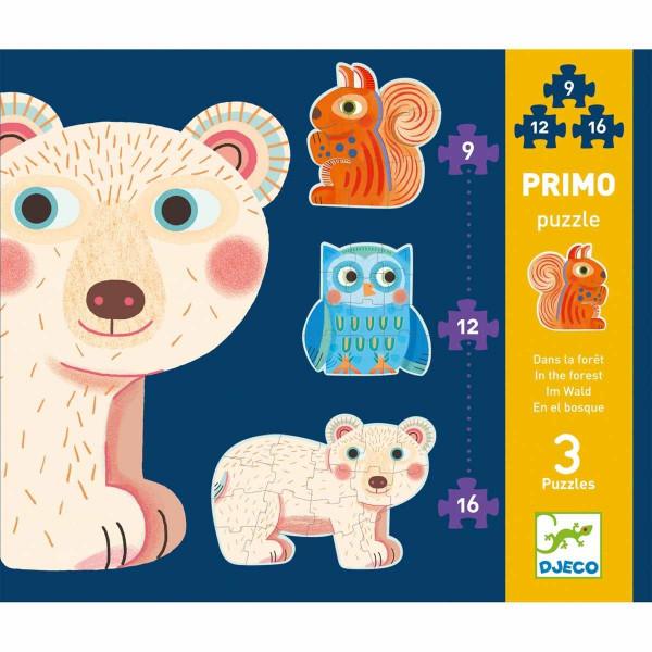 Djeco Drei erste Puzzles Im Wald   Spielzeug für Kinder bei Das bunte Chamäleon in Bamberg und online