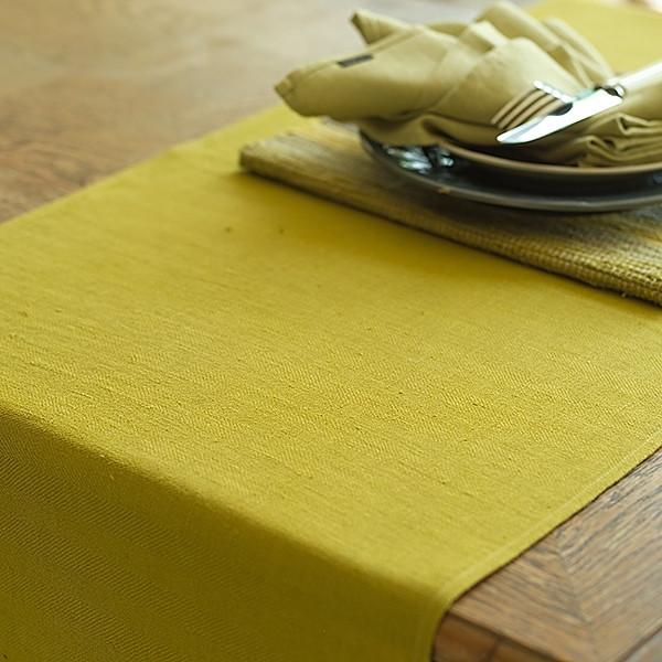Tischläufer Leinen, Lara, Citrine | Natürliches für Zuhause bei Das bunte Chamäleon in Bamberg und online