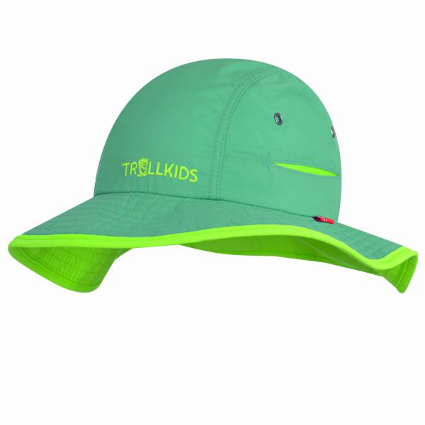 Trollkids Sonnenhut Troll Hat, dunkelgrün/Hellgrün | Outdoorbekleidung für Kinder bei Das bunte Chamäleon in Bamberg und online
