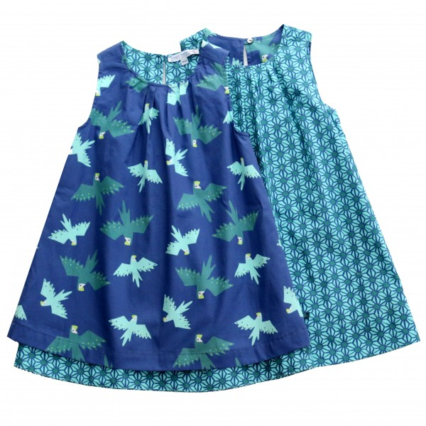 Enfant Terrible Wendekleid blau mit Papageien
