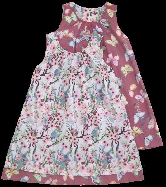 Enfant Terrible Wendekleid jap. Blüte/Schmetterling, hellrosé-malve | Bio-Kinderkleidung bei Das bunte Chamäleon in Bamberg und online kaufen