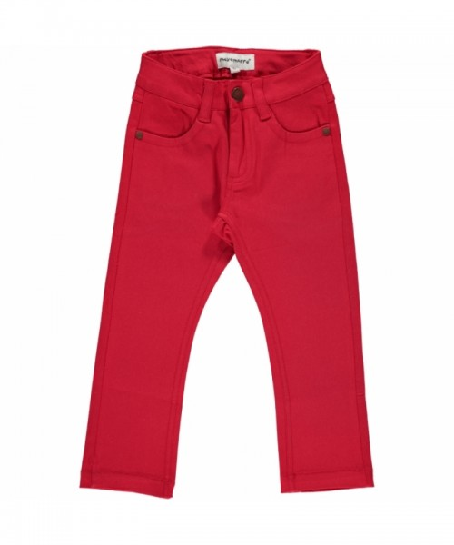 Maxomorra Jeans Pants Twill, red
