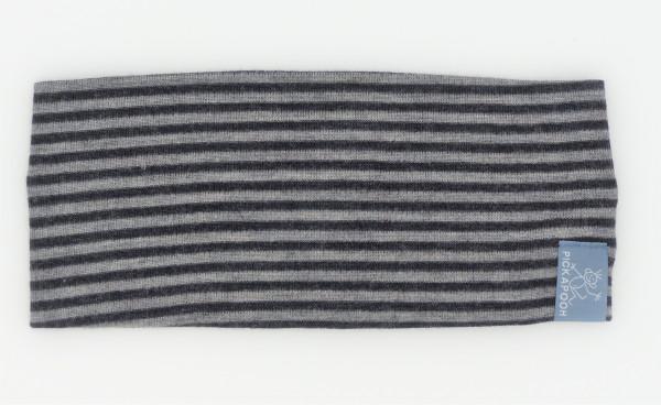 Pickapooh Stirnband Wolle/Seide, schwarz/grau | Pickapooh bei Das bunte Chamäleon in Bamberg und online