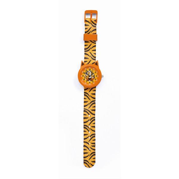 Djeco Kinder-Armbanduhr Tiger | Kinderuhren bei Das bunte Chamäleon in Bamberg und onlien