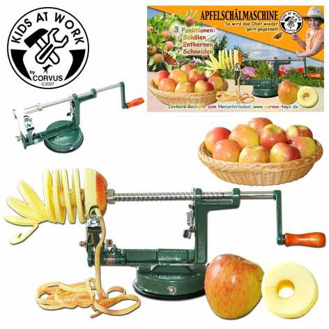 Corvus Apfelschälmaschine | Werkzeug für Kinder bei Das bunte Chamäleon in Bamberg und online