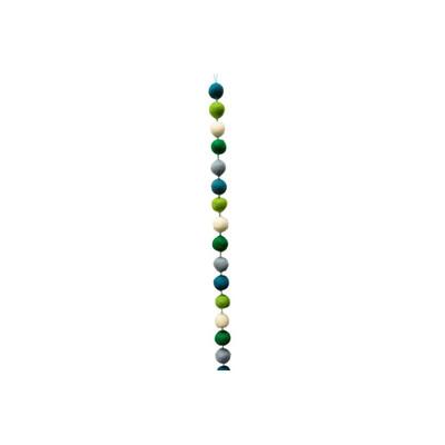 Bunte Filzkugelgirlande aus Wollfilz, Grün/Blau | Schönes für dein Zuhause bei Das bunte Chamäleon in Bamberg und online