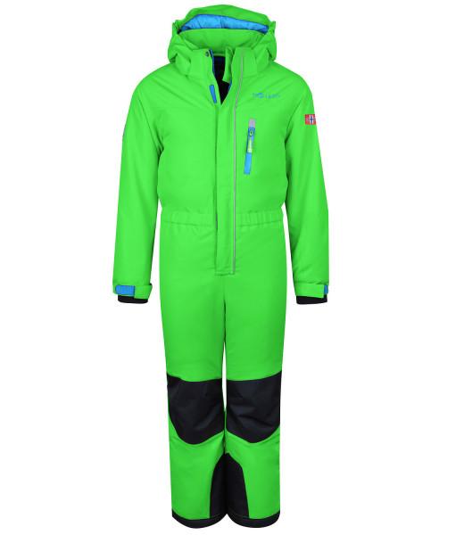 Trollkids Schneeanzug Isfjord bright green | Kinder-Outdoorkleidung bei Das bunte Chamäleon in Bamberg und online