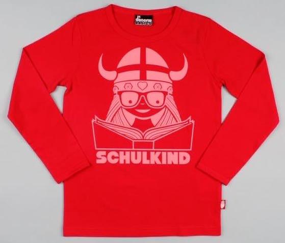 Danefae Schulkind-Shirt Red Warm Coral | Skandinavische Kinderkleidung bei Das bunte Chamälein Bamberg kaufen