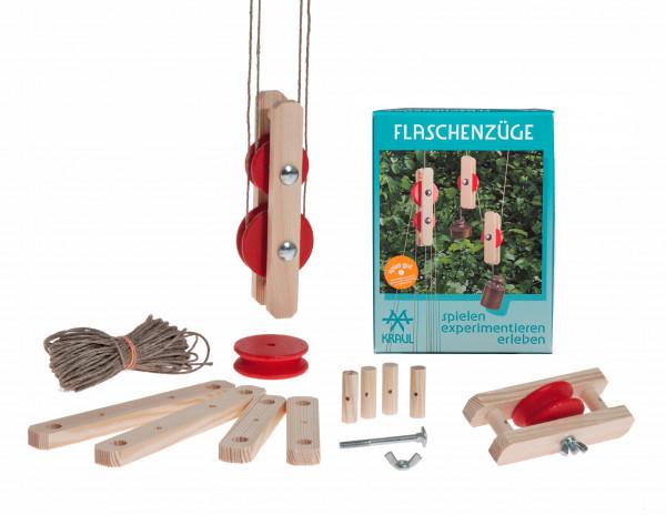 Kraul Mechanik-Experimentierkasten Flaschenzüge | Kraul Spielwaren für Kinder bei Das bunte Chamäleon in Bamberg und online