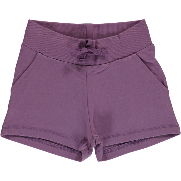 Maxomorra Sweat-Shorts Dusty Purple | Skandinavische Kinderkleidung aus Bio-Baumwolle