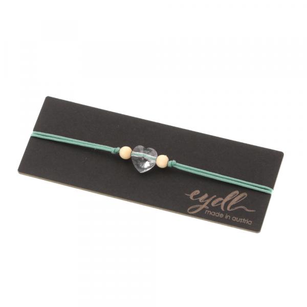 Eydl Armband Svarovski Herz Ahorn, Mint | Natürlicher Holzschmuck bei Das bunte Chamäleon in Bamberg und online kaufen