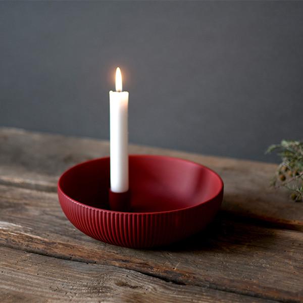 Storefactory Kerzenhalter Lidatorp Jubileum rot | Skandinavisches Design bei Das bunte Chamäleon in Bamberg und online
