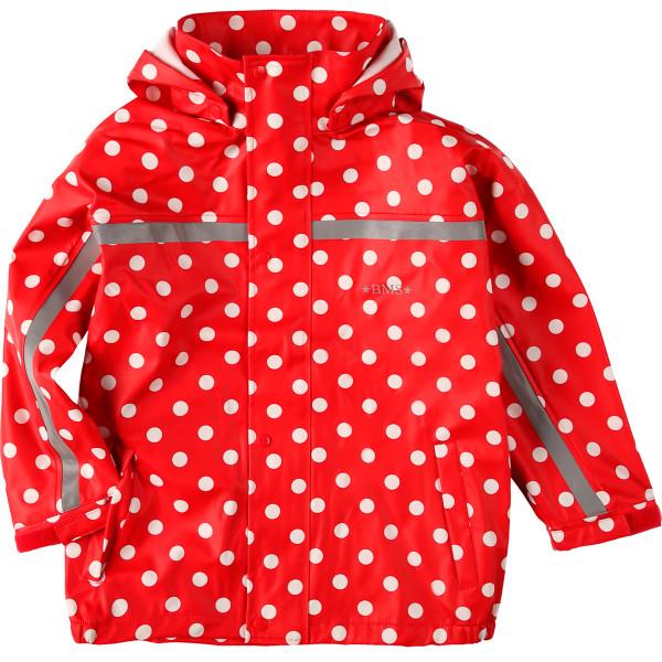 BMS Regenjacke Räuberwald Punkte, Rot   Kinder-Outdoorkleidung bei Das bunte Chamäleon in Bamberg und online