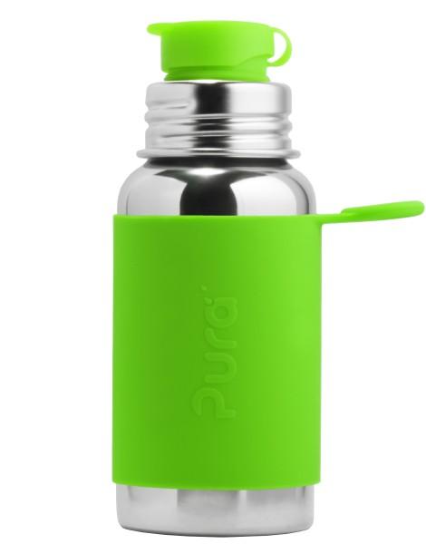 Pura Edelstahltrinkflasche mit BigMouth-Sportverschluss 500 ml, grün