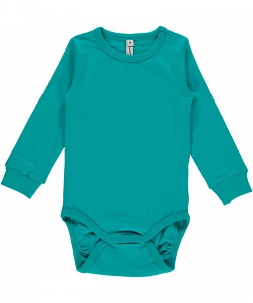 Maxomorra Body Langarm, turquoise