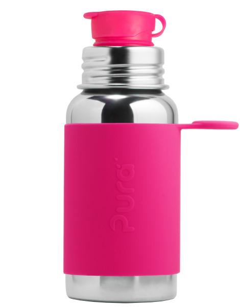 Pura Edelstahl-Sportflasche 500ml, pink | Edelstahl-Trinkflaschen von Pura bei Das bunte Chamäleon in Bamberg und online kaufen