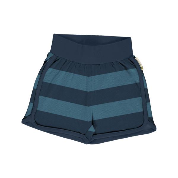 Maxomorra Jersey-Shorts Streifen, blau | Skandinavische Bio-Kinderkleidung bei Das bunte Chamäleon Bamberg und online