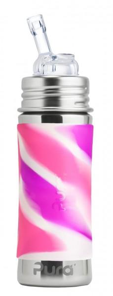 Purakiki Edelstahlflasche mit Strohhalmaufsatz online kaufen