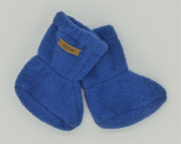 Pure Pure Babystiefelchen Wollfleece, Blau | Babykleidung aus Wolle bei Das bunte Chamäleon in Bambertg und online kaufen
