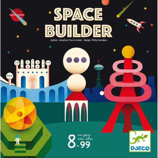 Djeco Geschwindigkeitsspiel Space Builder   Spielzeug für Kinder bei Das bunte Chamäleon in Bamberg und online