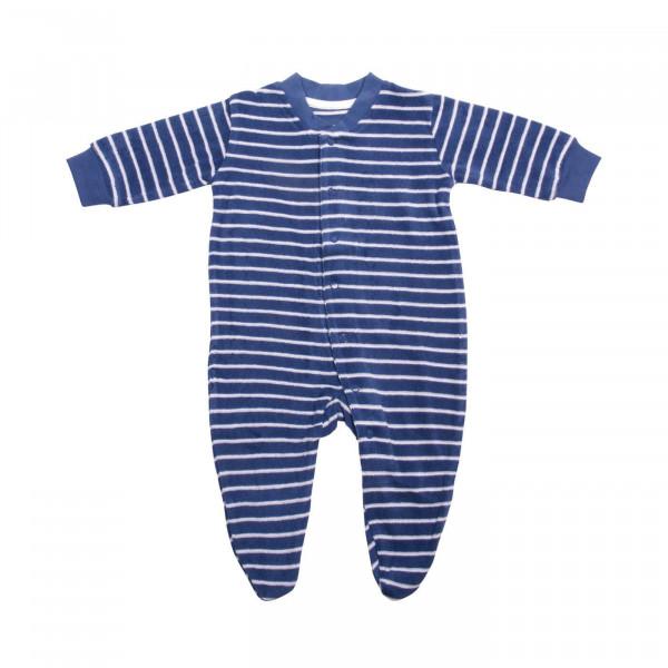 Living Crafts Schlafanzug Frottee Blau/Weiß   Living Crafts Naturmode bei Das bunte Chamä
