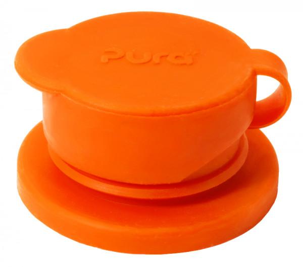Pura BigMouth Sport-Trinkverschluss aus Silikon, orange