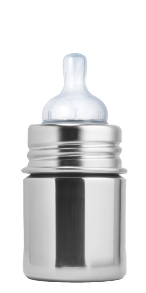 Purakiki Edelstahl Babyflasche Edelstahlflasche 125 ml, natur