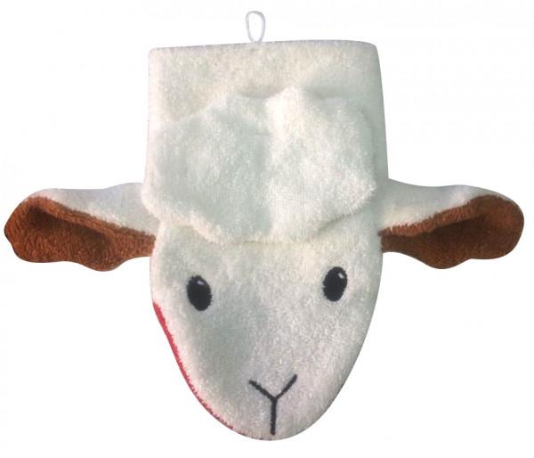 Fürnis Waschlappen Schaf | Kindersachen bei Das bunte Chamäleon in Bamberg und online