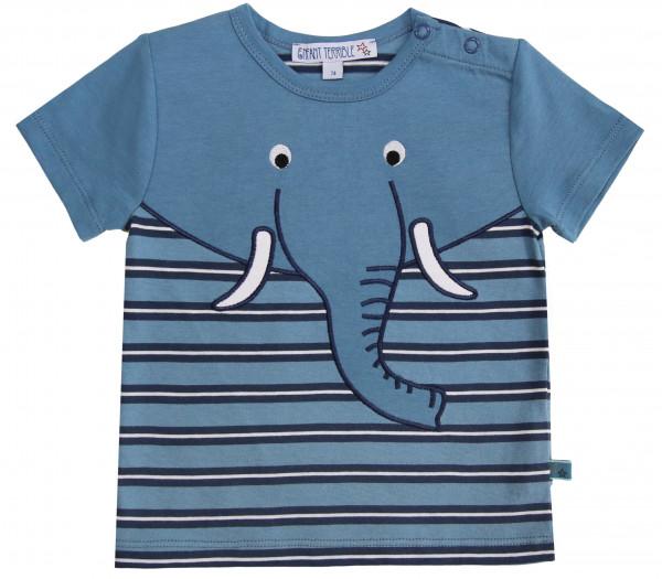 Enfant Terrible Baby-T-Shirt mit Elefant, petrol-navy | Bio-Kindermode bei Das bunte Chamäleon in Bamberg und online