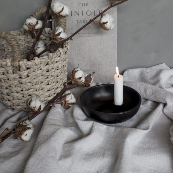Storefactory Kerzenhalter Lidatorp klein, schwarz | Skandinavisches Design bei Das bunte