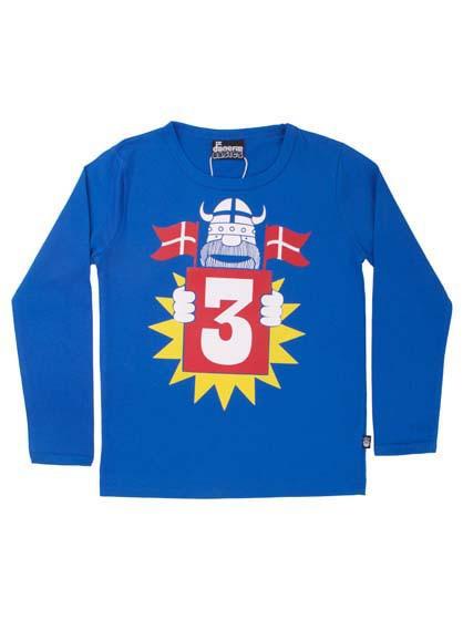 Danefae Geburtstags-Shirt blau | Skandinavische Kinderkleidung bei Das bunte Chamälein Bamberg kaufen