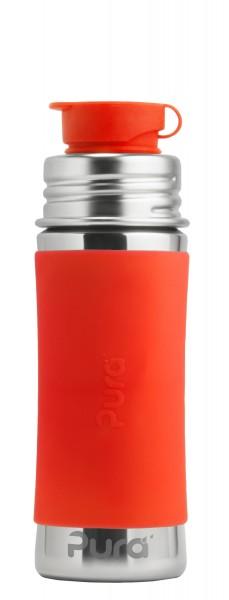 Purakiki Sportflasche aus Edelstahl mit Sportverschluss   plastikfrei