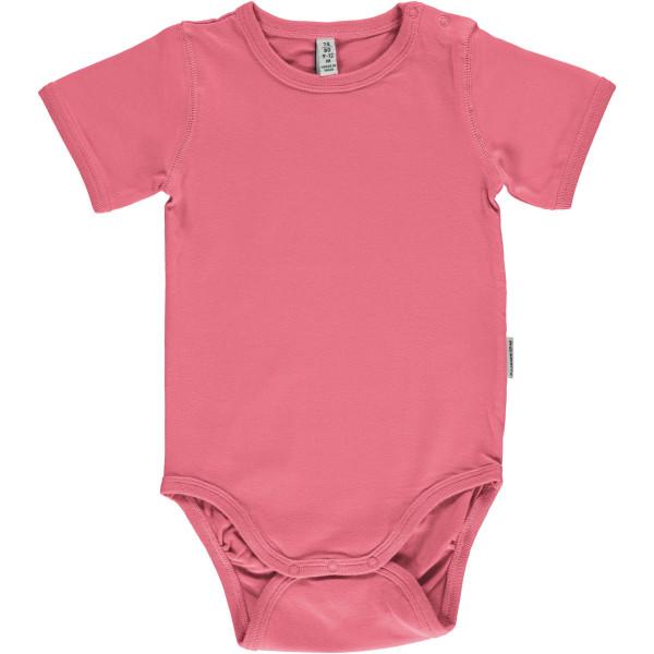 Maxomorra Body kurzarm Rose Pink | Bio-Kinderkleidung von Maxomorra bei Das bunte Chamäleon online kaufen