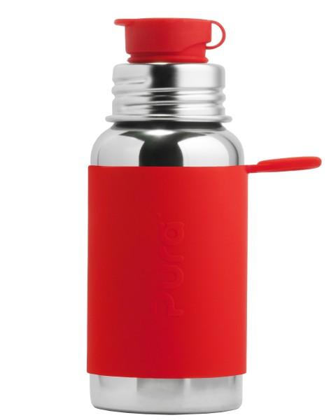 Pura Edelstahltrinkflasche mit BigMouth-Sportverschluss 500 ml, rot