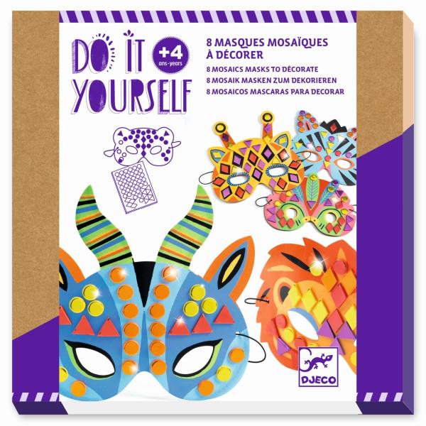 Djeco do it yourself Mosaikmasken Dschungeltiere | Basteln für Kinder bei Das bunte Chamäleon in Bamberg und online