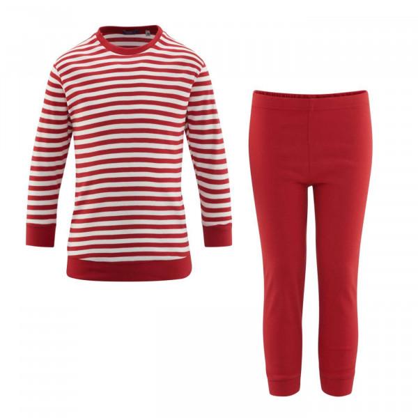 Living Crafts Bio Schlafanzug Ringel, Rot/Weiß   Ökologische Kinderkleidung bei Das bunte Chamälein Bamberg kaufen