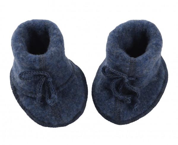 Engel Natur Baby-Schühchen Wollfleece, Blau melange | Wollkleidung von Engel Natur bei Das bunte Chamäleon in Bamberg und online