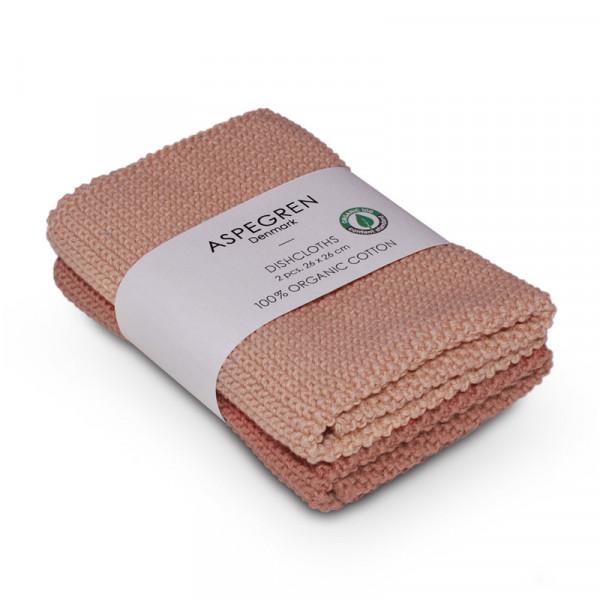 Aspegren Baumwoll-Spültücher solid clay   Plastikfreie Dinge für zu Hause bei Das bunte Chamäleon in Bamberg und online