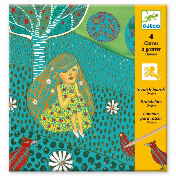 Djeco do it yourself Kratzbilder Ondine | Basteln für Kinder bei Das bunte Chamäleon in Bamberg und online