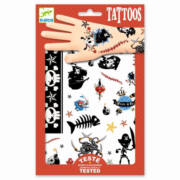 Djeco Tattoos Piraten   Basteln für Kinder bei Das bunte Chamäleon in Bamberg und online