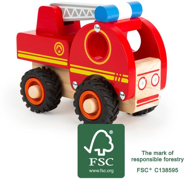 smallfoot Feuerwehrfahrzeug | Natürliche Holzspielsachen bei Das bunte Chamäleon in Bamberg und online