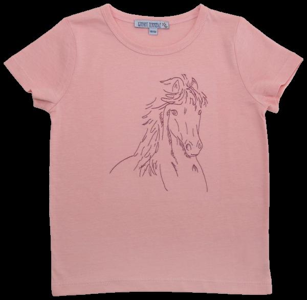 Enfant Terrible T-Shirt Pferd, hellrosé | Bio-Kindermode bei Das bunte Chamäleon in Bamberg und online