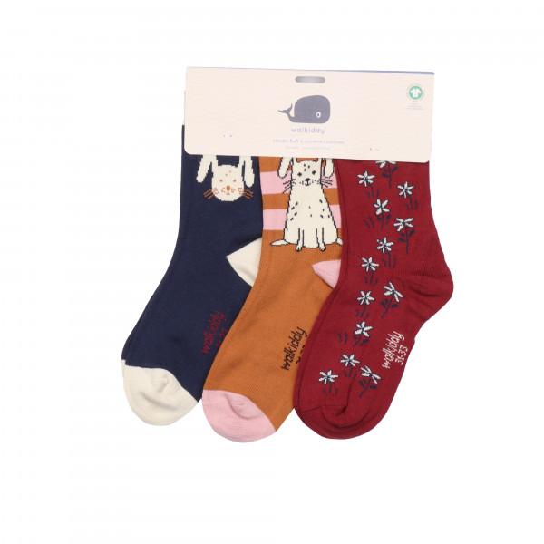Walkiddy Socken 3er Set, Hase | Kinderbekleidung und Damenmode bei Das bunte Chamäleon in Bamberg und online kaufen