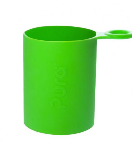 Pura Silikonüberzug grün   Pura Trinkflaschen bei das bunte Chamäleon