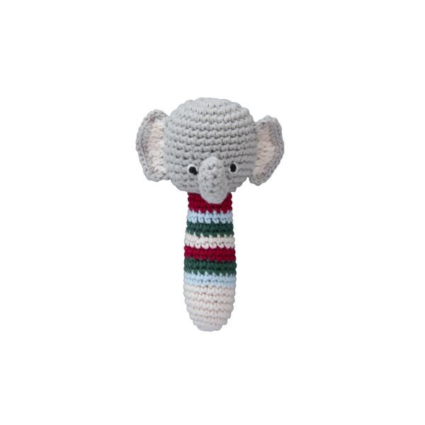Global Affairs Rassel Greifling Elefant | Holzspielzeug für Kinder bei Das bunte Chamäleon in Bamberg und online